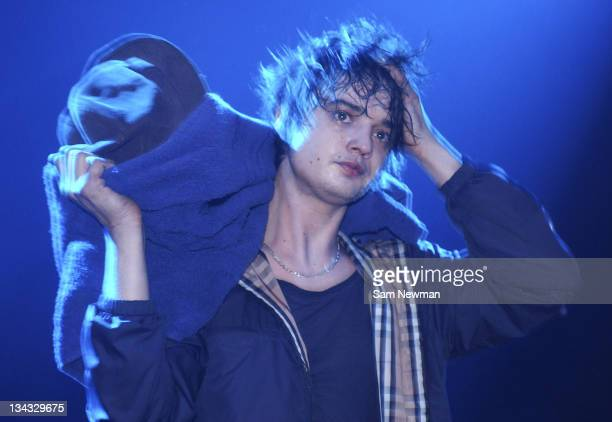 Pete Doherty of Babyshambles performs live on stage at Shepherds Bush Empire on 20 February 2006