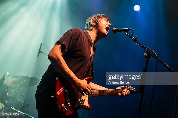 Pete Doherty of Babyshambles performs on stage at Leeds O2 Academy on September 6, 2013 in Leeds, England.
