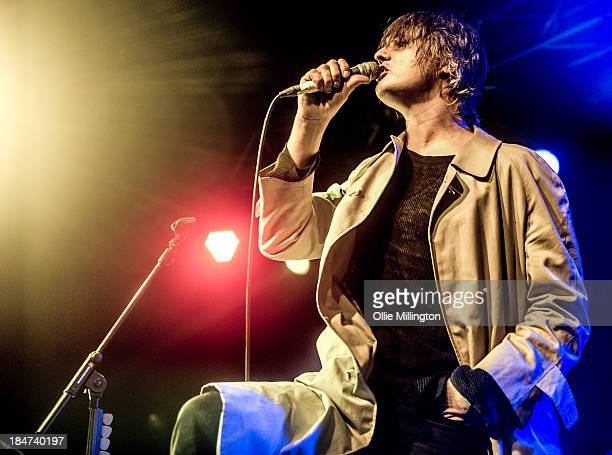 Pete Doherty of Babyshambles performs on stage at O2 Academy Leicester on October 15 2013 in Leicester England