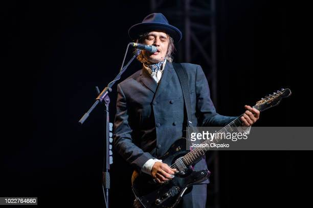 Pete Doherty of The Libertines performs on stage on Day 1 of Victorious Festival at Southsea Seafront on August 24, 2018 in Portsmouth, England.