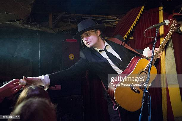 Pete Doherty performs a special gig at 'White Trash' on February 1, 2014 in Berlin, Germany.