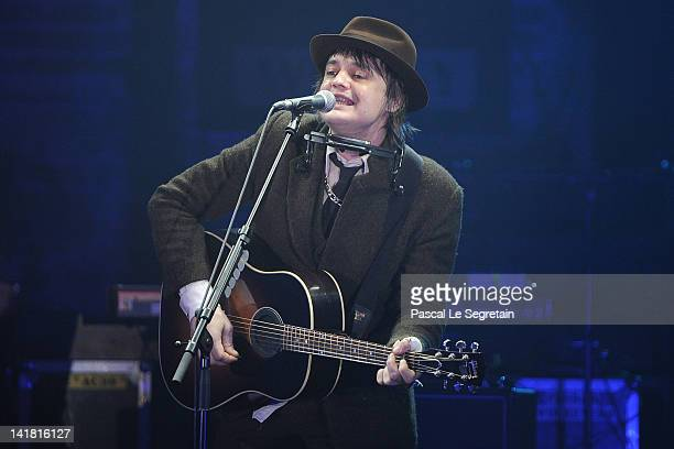 Pete Doherty performs during the 'Swinging London' Monaco Rose Ball 2012 at Sporting Monte-Carlo on March 24, 2012 in Monte-Carlo, Monaco.