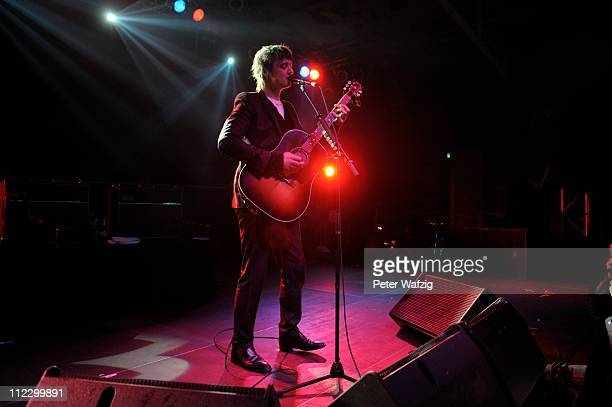 Pete Doherty performs on stage at the Essigfabrik on April 13 2011 in Cologne Germany