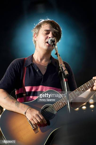 Pete Doherty performs on stage during Fete de L'Humanite 2012 at Parc Georges Valbon on September 15 2012 in La Courneuve France
