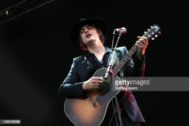 Pete Doherty performs on stage during Rock Im Park at Zeppelinfeld on June 1 2012 in Nuremberg Germany