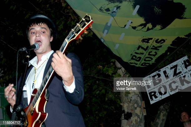 Pete Doherty playing with Babyshambles at Manumissions Bar M in Ibiza, Spain