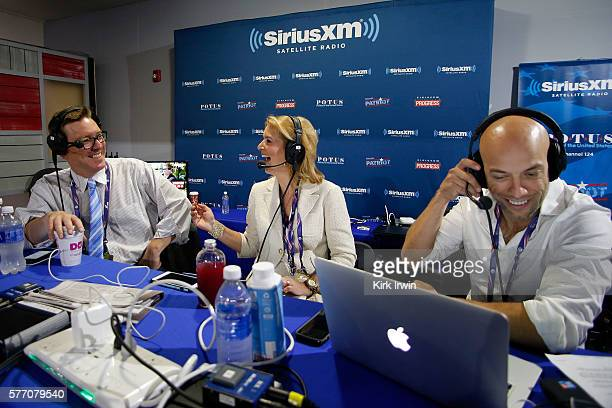 Pete Dominick host of Stand Up with Pete Dominick on SiriusXM talks with Matt Welch editor of Reason Magazine and Christine Romans of CNN while...