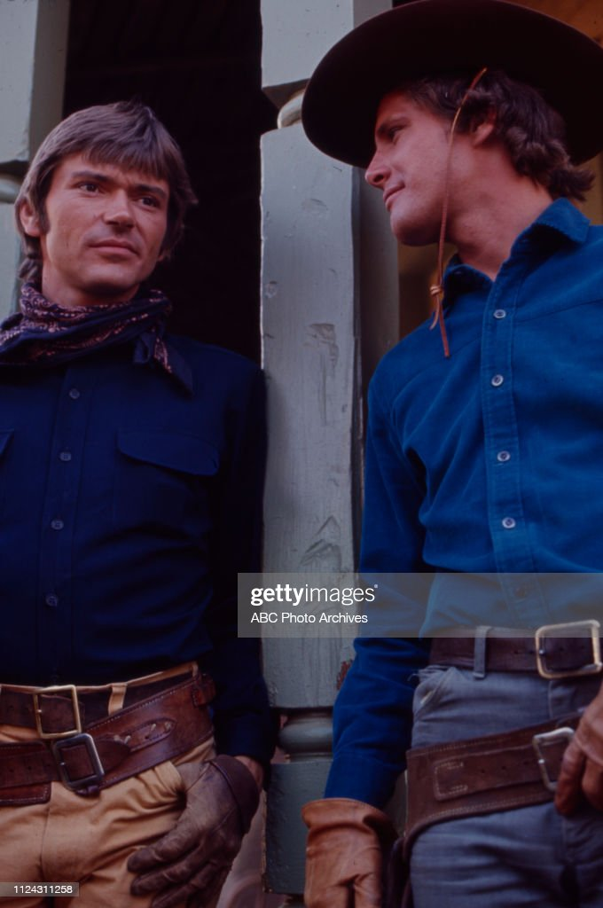 Pete Duel, Ben Murphy Appearing In 'Alias Smith And Jones' : News Photo