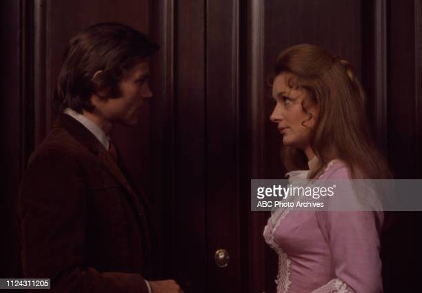 Pete Duel Diana Muldaur appearing in the Walt Disney Television via Getty Images series 'Alias Smith and Jones' episode 'The Great Shell Game'