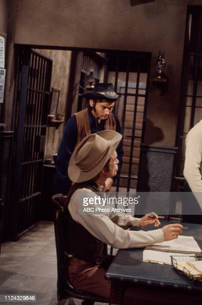 Pete Duel, Dick Cavett appearing in the Walt Disney Television via Getty Images series 'Alias Smith and Jones' episode '21 Days to Tenstrike'.