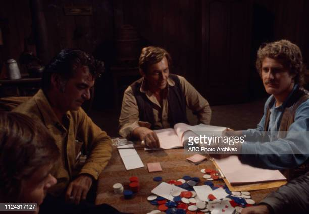 Pete Duel Rory Calhoun Ben Murphy crew behind the scenes making of the Walt Disney Television via Getty Images series 'Alias Smith and Jones' episode...