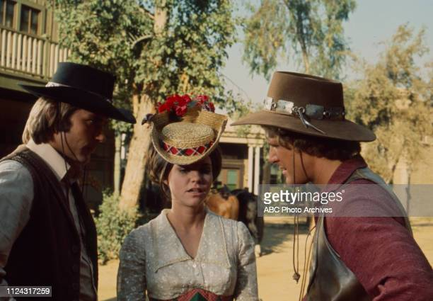 Pete Duel Sally Field Ben Murphy appearing in the Walt Disney Television via Getty Images series 'Alias Smith and Jones' episode 'Dreadful Sorry...