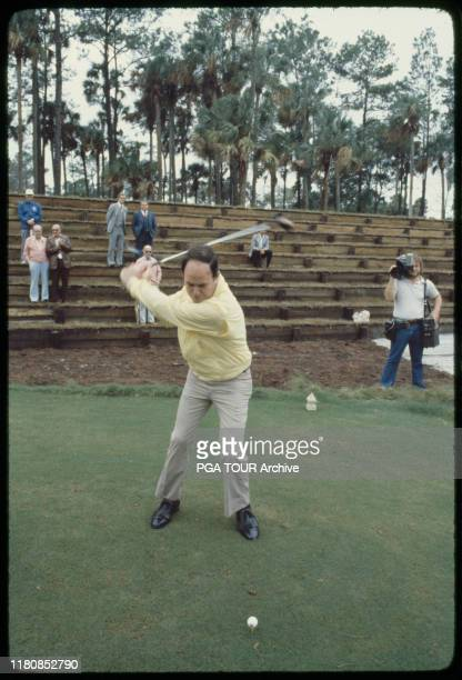 Pete Dye Designer of Sawgrass First Tee TPC Sawgrass Opening October 1980 Photo by Bill Knight/PGA TOUR Archive via Getty Images