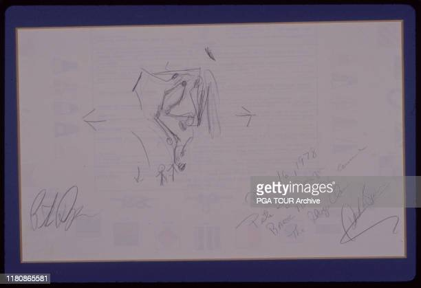 Pete Dye drawing TPC Sawgrass Layout May 16 1978 Archive via Getty Images