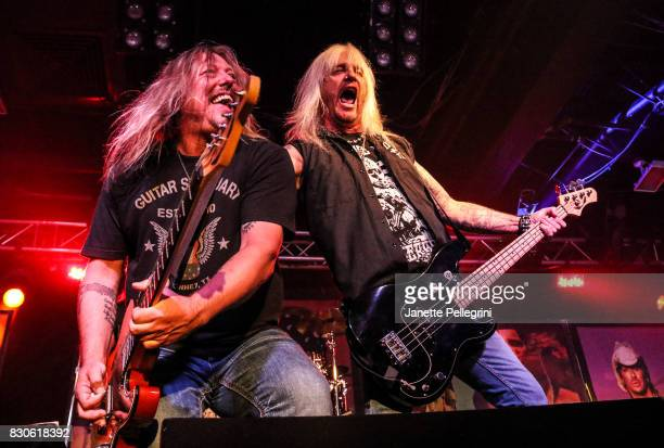 Pete Evick and Eric Brittingham perform in concert with Bret Michaels on August 11 2017 at Mulcahy's Pub and Concert Hall in Wantagh New York