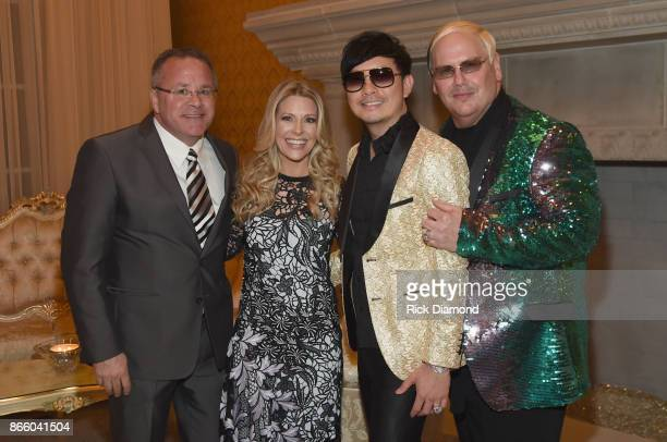 ACM/CEO Pete Fisher Tracie Hamilton of J/P HRO host Newman Arndt and host Johnathon Arndt attend Nashville Shines for Haiti benefiting Sean Penn's...