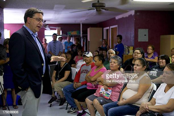 Pete Gallego Texas 23rd District Congressman met with constituents August 20 2013 in San Elizario TX Pete discussed border and water issues with...