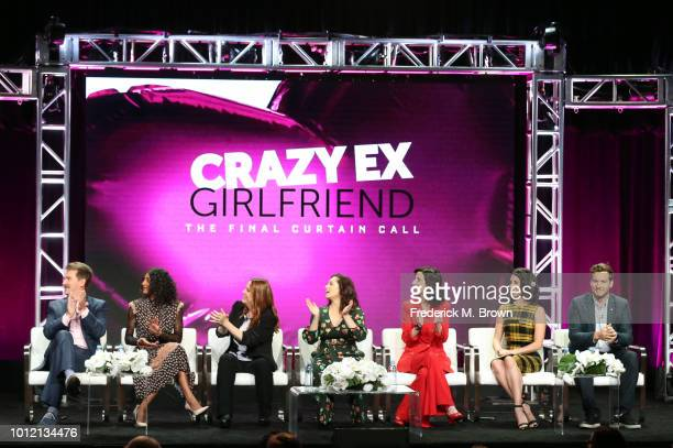 Pete Gardner Vella Lovell Donna Lynne Champlin Rachel Bloom Aline Brosh McKenna Gabrielle Ruiz and Scott Michael Foster from Crazy ExGirlfriend...
