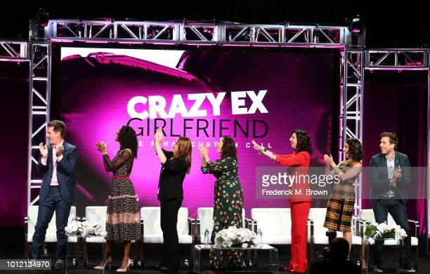 Pete Gardner Vella Lovell Donna Lynne Champlin Rachel Bloom Aline Brosh McKenna Gabrielle Ruiz and Scott Michael Foster from 'Crazy ExGirlfriend'...