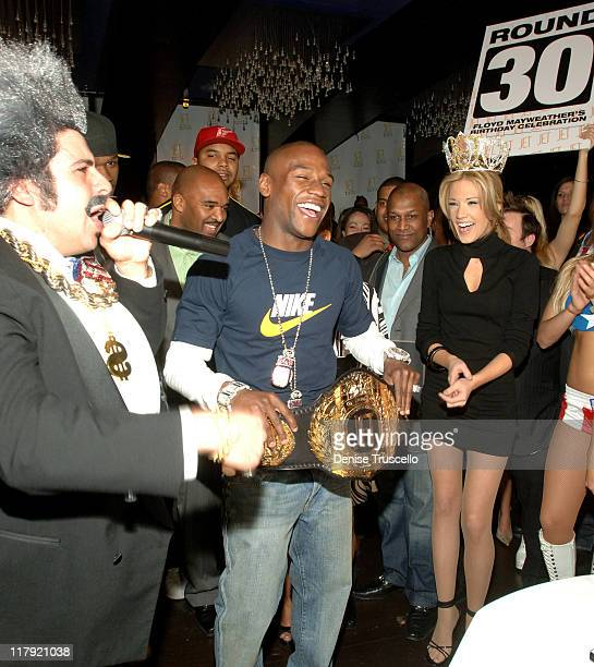 Pete Giovine Floyd Mayweather Jr and Katie Rees during Floyd Mayweather Jr's 30th Birthday Party at JET Nightclub at The Mirage Hotel and Casino...