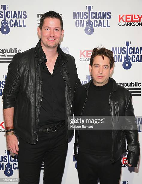 Pete Griffin and Charlie Walk attend Musicians On Call Celebrates Its 15th Anniversary Honoring Kelly Clarkson and EVP of Republic Records, Charlie...