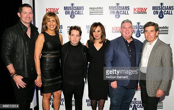 Pete Griffin, Hoda Kotb, Charlie Walk and Rosanna Scotto and Elvis Duran attend Musicians On Call Celebrates Its 15th Anniversary Honoring Kelly...