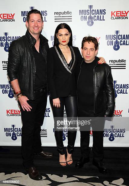 Pete Griffin, Jessie J and Charlie Walk attend Musicians On Call Celebrates Its 15th Anniversary Honoring Kelly Clarkson And EVP Of Republic Records,...