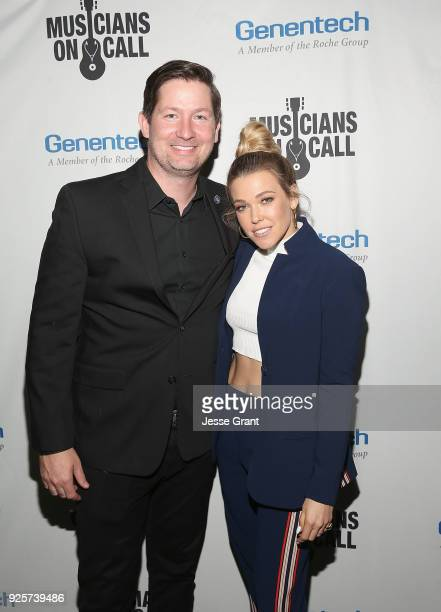 Pete Griffin Musicians On Call President and Rachel Platten attend the Musicians On Call 5th Anniversary Celebration in Los Angeles Delivering The...