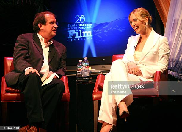 Pete Hammond and Kate Winslet during 20th Annual Santa Barbara International Film Festival Sapphire Inspired Award Honors Kate Winslet at The Lobero...
