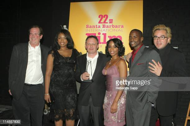 Pete Hammond Jennifer Hudson Bill Condon Anika Noni Rose Keith Robinson and Roger Durling executive director of the SBIFF