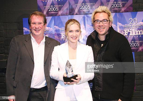 Pete Hammond Kate Winslet and Roger Durling during 20th Annual Santa Barbara International Film Festival Sapphire Inspired Award Honors Kate Winslet...