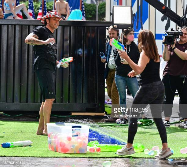 Pete Hegseth and Rachel Campos-Duffy celebrate Independence Day on 'Fox & Friends Weekend' on July 04, 2021 in New York City.