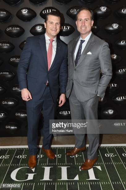 Pete Hegseth and Tom Ott attend Giltcom's Big Game Celebration benefiting the Challenged Athletes Foundation at Saks OFF 5TH on January 31 2018 in...