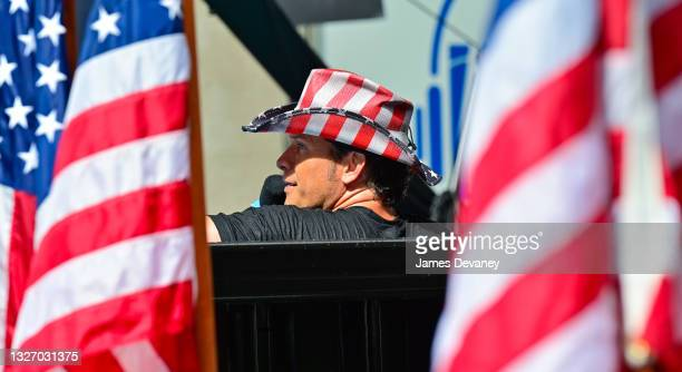 Pete Hegseth celebrates Independence Day on 'Fox & Friends Weekend' on July 04, 2021 in New York City.