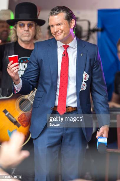 Pete Hegseth hosts FOX and Friends AllAmerican Concert Series at FOX Studios on July 05 2019 in New York City