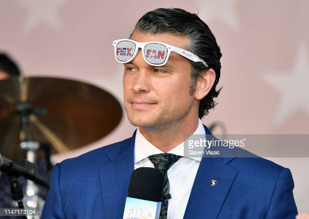 Pete Hegseth hosts FOX News Channel's Fox Friends AllAmerican Summer Concert Series outside Fox News Channel Studios on May 31 2019 in New York City