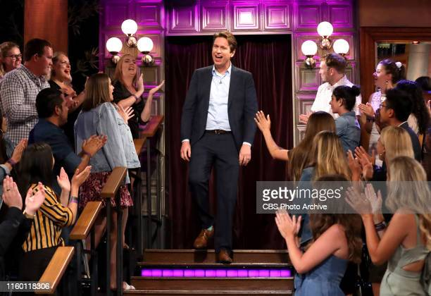 Pete Holmes chats with James on THE LATE LATE SHOW WITH JAMES CORDEN scheduled to air Monday August 5 2019 on the CBS Television Network