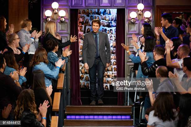 Pete Holmes greets the audience during The Late Late Show with James Corden Thursday February 1 2018 On The CBS Television Network