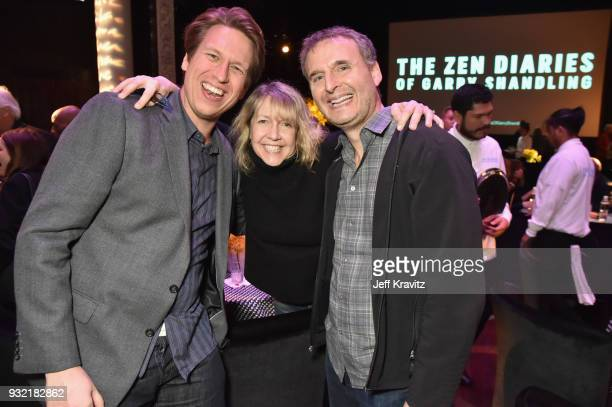 Pete Holmes Monica Horan and Philip Rosenthal attend the screening of HBO's The Zen Dairies of Garry Shandling at Avalon on March 14 2018 in...