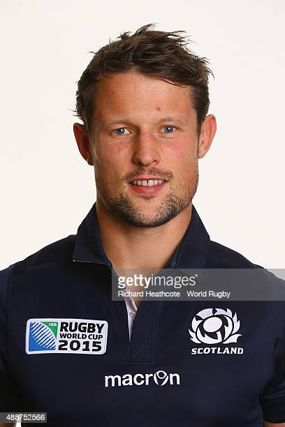 Pete Horne of Scotland during the Scotland Rugby World Cup 2015 squad photo call at the Hilton Puckrup Hall Hotel on September 17 2015 in Tewkesbury...