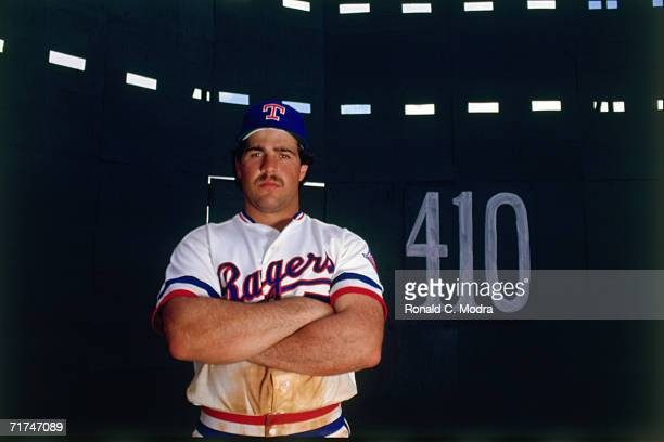 Pete Incaviglia of the Texas Rangers poses at the spring training facilityon March 13 1986 in Pompano Beach Florida