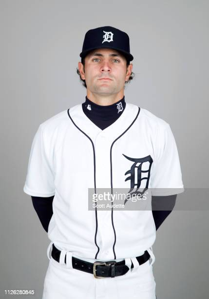 Pete Kozma of the Detroit Tigers poses during Photo Day on Tuesday February 19 2019 at Publix Field at Joker Marchant Stadium in Lakeland Florida