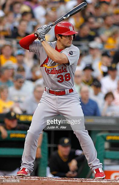 Pete Kozma of the St Louis Cardinals bats during the game against the Pittsburgh Pirates at PNC Park on May 8 2015 in Pittsburgh Pennsylvania