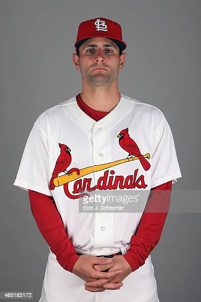 Pete Kozma of the St Louis Cardinals poses during Photo Day on Monday March 2 2015 at Roger Dean Stadium in Jupiter Florida