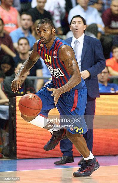 Pete Mickeal #33 of FC Barcelona Regal in action during the 20122013 Turkish Airlines Euroleague Regular Season Game Day 3 between FC Barcelona Regal...