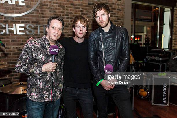 Pete Mitchell, Stephen Garrigan and Mark Prendergast pose at the Hard Rock Cafe in Manchester for the Absolute Radio Presents the road to Hard Rock...