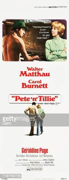 Pete 'n' Tillie poster US poster art from left Walter Matthau Carol Burnett 1972