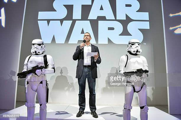 Pete Noonan Managing Director Licensing for Disney Consumer Solutions speaks during the Star Wars Presentation during World MasterCard Fashion Week...