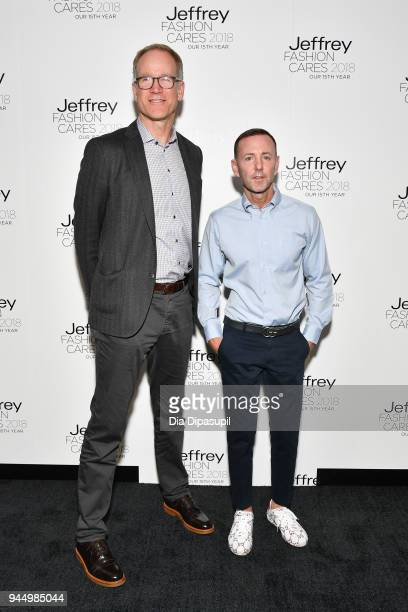 Pete Nordstrom and Jeffrey Kalinsky attend the 15th annual Jeffrey Fashion Cares Fashion Show and Fundraiser at Intrepid SeaAirSpace Museum on April...