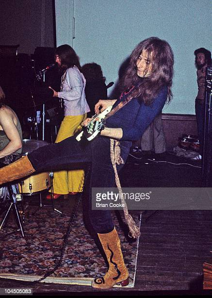 Pete Overend Watts of Mott The Hoople performs on stage at Birmingham Town Hall on December 26 1970.